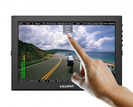 """Lilliput TM-1018/P 10.1"""" LED IPS Full HD HDMI Field Touch Screen Camera Monitor With HDMI Input&Output,VGA Input"""