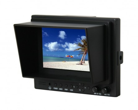 Professional LILLIPUT 5'' 569 / O,TFT LCD Monitor With HDMI, YPbPr, AV Input HDMI Output / With Battery Plate