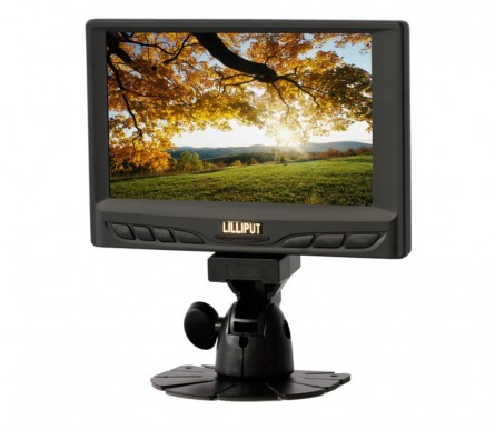 LILLIPUT 629GL-70NP/C/T 7 Inch Touchscreen VGA Monitor,1 Audio/2 video Input,800x480,Build-in Speaker
