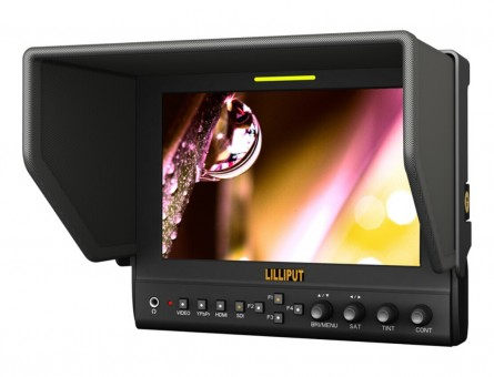 Lilliput 7 Inch LED Monitor, 663 LED Monitor 1280x800 IPS 800:1 Contrast With Suit Case+Folding Sun Shade Cover