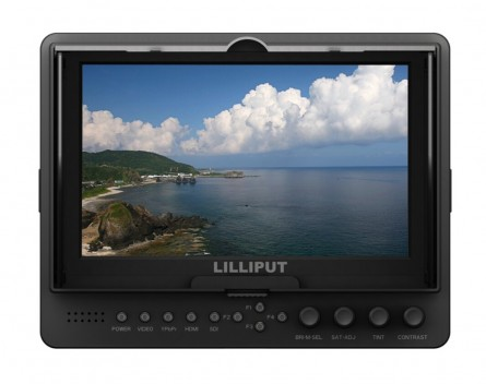 """Lilliput 665/O 7"""" Video Camera-top Monitor For Full HD Camera, With HDMI Input,Output+hot Shoe Mount+2 PC Plate"""