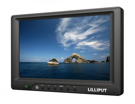 """Lilliput 7"""" 669GL-70NP/C  HDMI,DVI VGA Monitor,Shoe Mount +Sun Hood for DSLR Camera"""