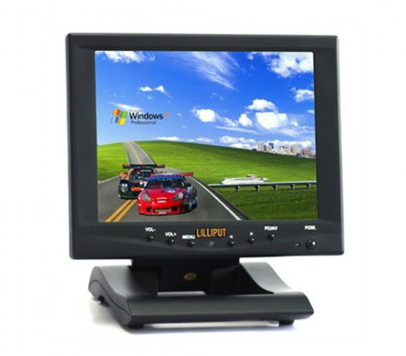 8 Inch Touchscreen LED Monitor,LILLIPUT FA801-NP/C/T With VGA Port for PC,1 Audio&2 Video Input,Remote Control,Build-in Speaker