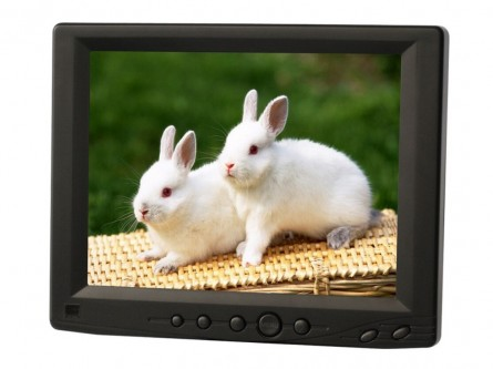 8 Inch LED Monitor,LILLIPUT 809GL-80NP/C With VGA Connect With Computer,1 Audio, 2 Video Input,Multi-language OSD