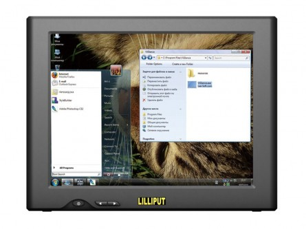 LILLIPUT UM-82/C 8 Inch Touchscreen USB Monitor,140°/ 120°(H/V)Contrast:500:1,Resolution:800×600,Build-in 2 Speakes