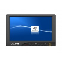 """Lilliput 8"""" 869gl-80NP/C With HDMI,VGA,DVI  Input Monitor For HD Camera With 1/4"""" Hot Shoe Mount and 12v Rechargerable Battery"""