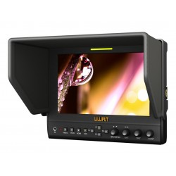 Lilliput 663/S2,7 inch 16:9 Metal Framed LED Field Monitor With 3G-SDI, HDMI, YPbPr (via BNC), Composite Video And Collapsible Sun Hood. Optimised For Full HD Camcorder