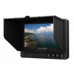 """Lilliput 665/P 7"""" Monitor  with Advanced Functions for Full HD Camera,With HDMI Input+Hot Shoe Mount +HDMI Cable+ 2 PC Battery Plate"""