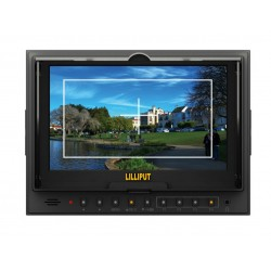 """Lilliput 5D-II/O/P,Peaking Zebra Exposure Filter,With HDMI  Input/Output,7"""" TFT LCD Monitor+Hot Shoe Mount+Mini HDMI Cable"""