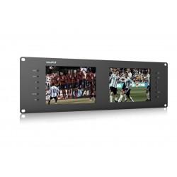 "LILLIPUT RM-7028S Dual 7"" 3RU Rack Monitors With Dual 7"" IPS Screens, Viewing SD, HD and 3G-SDI Video on 3RU Rack Monitor"